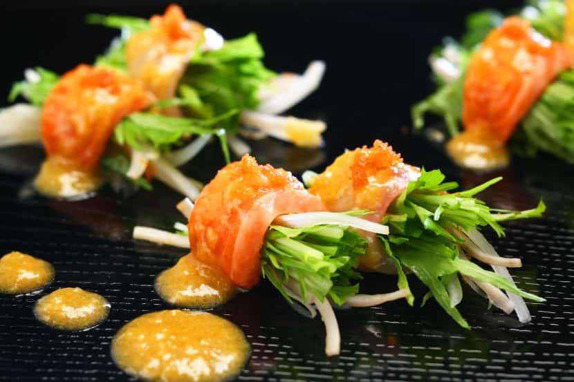 巻き巻きお刺身サラダ