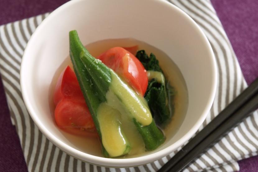 夏野菜の生姜醤油おひたし
