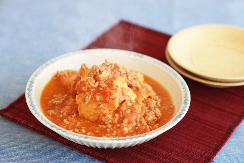 厚揚げの挽き肉トマト煮