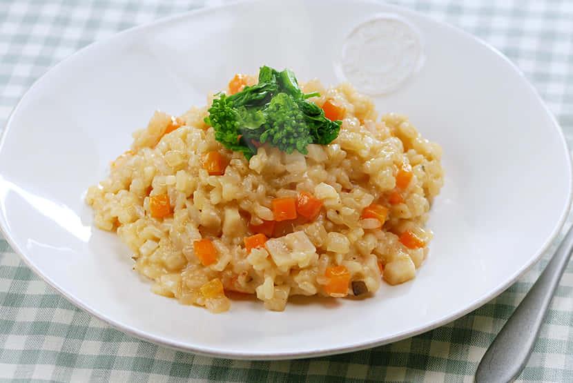 野菜たっぷり味噌リゾット