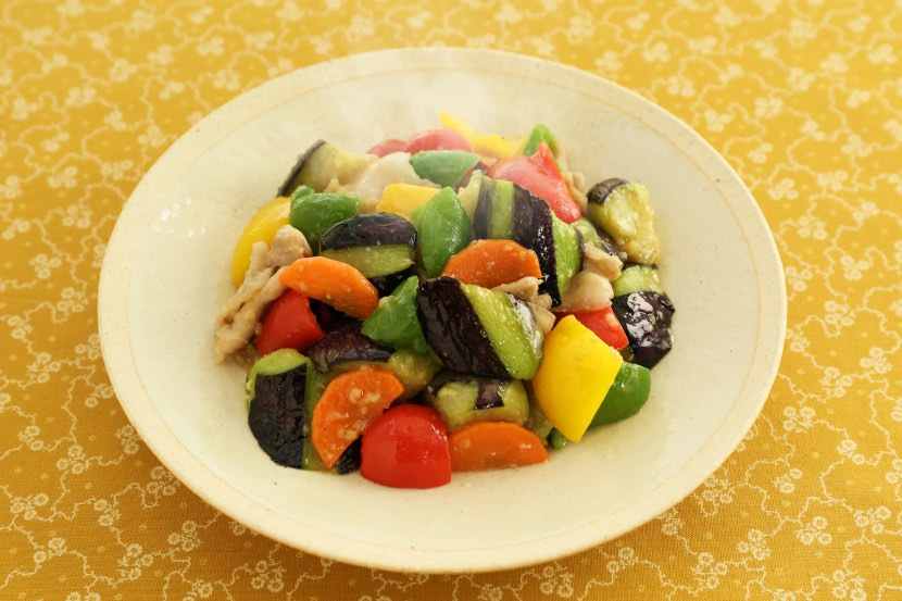夏野菜!肉みそ炒め