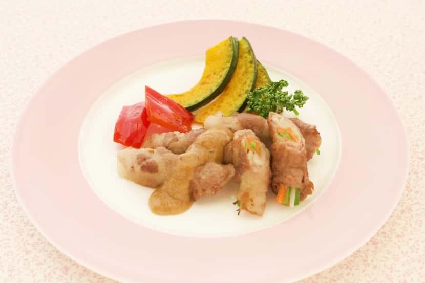 豚肉野菜ロール焼き