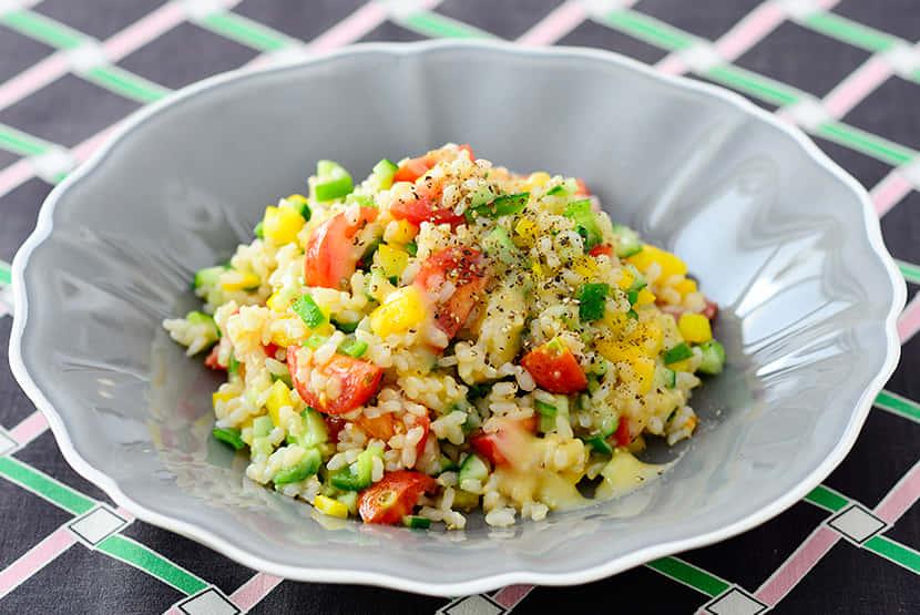 玄米といろいろ野菜のライスサラダ