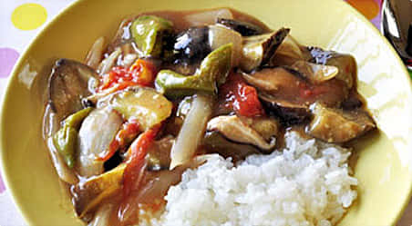 野菜たっぷりあんかけご飯