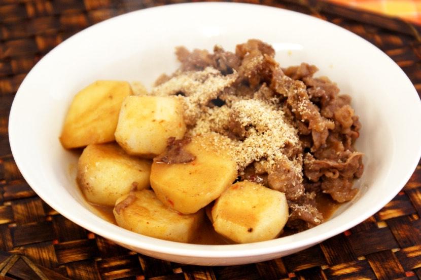 里芋と牛肉の炒め煮