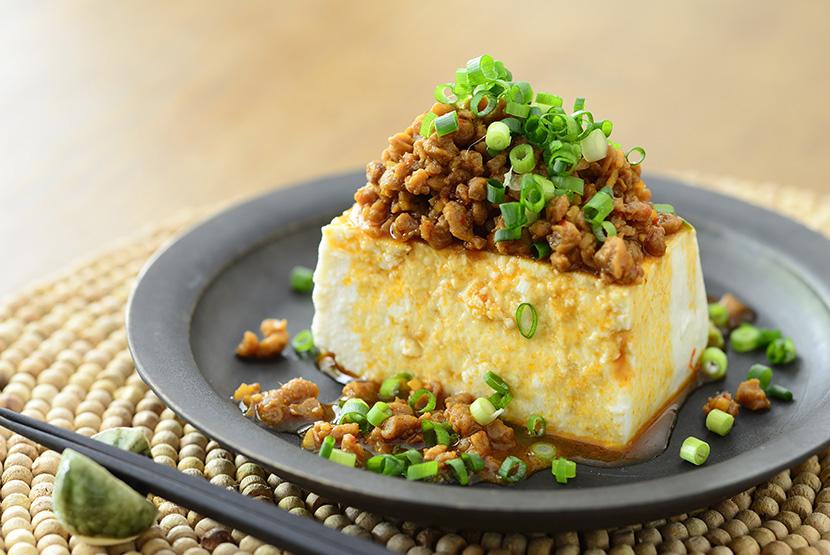 大豆のお肉の中華そぼろ豆腐