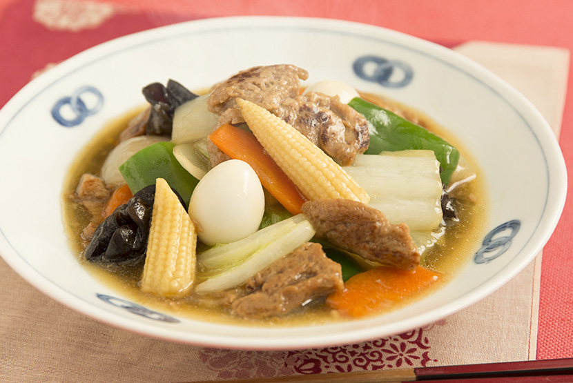 大豆のお肉でヘルシー八宝菜