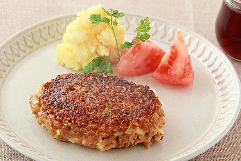 大豆のお肉100%置き換えハンバーグ