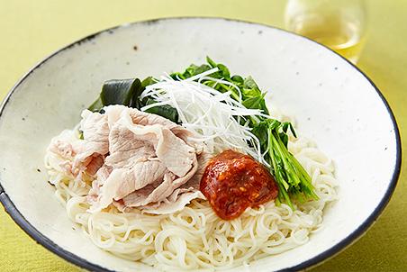 豚しゃぶと野菜のビビン麺