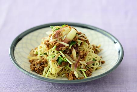 大豆のお肉ミンチ 肉みそ風とたっぷり薬味の和え麺