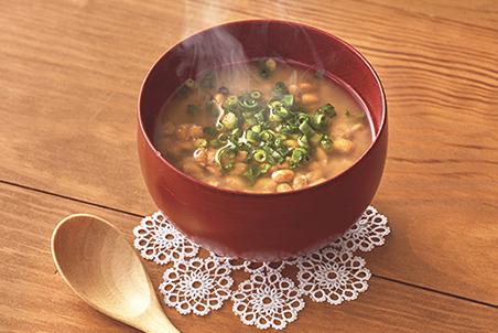 納豆と青ねぎの速攻味噌汁
