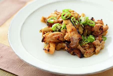 鶏肉の豆板醤みそ焼き