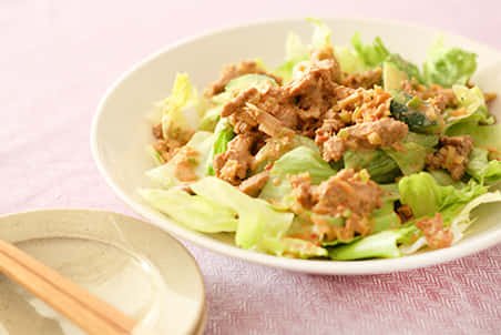 大豆のお肉の中華風サラダ