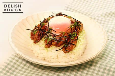 温玉スタミナ丼(大豆のお肉)