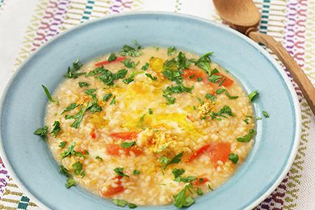 玄米トマトみそチーズリゾット