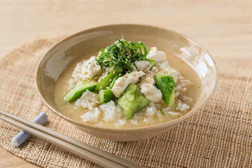 きゅうりと豆腐の冷や汁ご飯| レシピ | マルコメ
