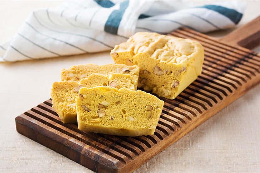 大豆プロテインスイーツで作るナッツケーキ