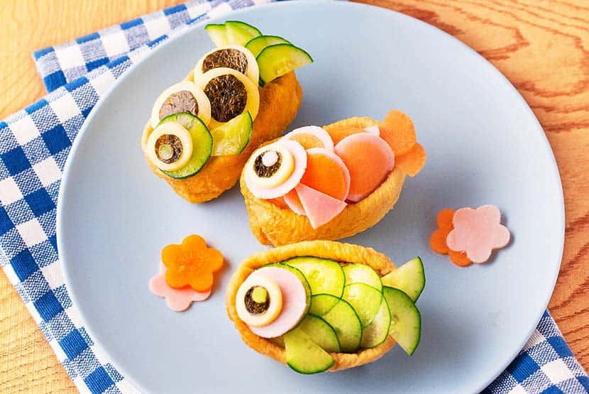 こいのぼりのオープンいなり寿司