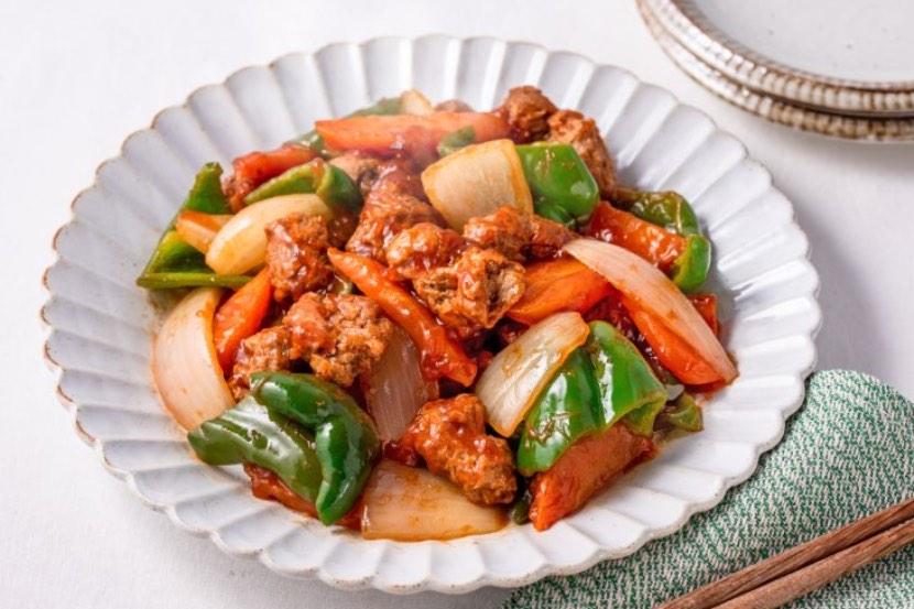 大豆のお肉の酢豚