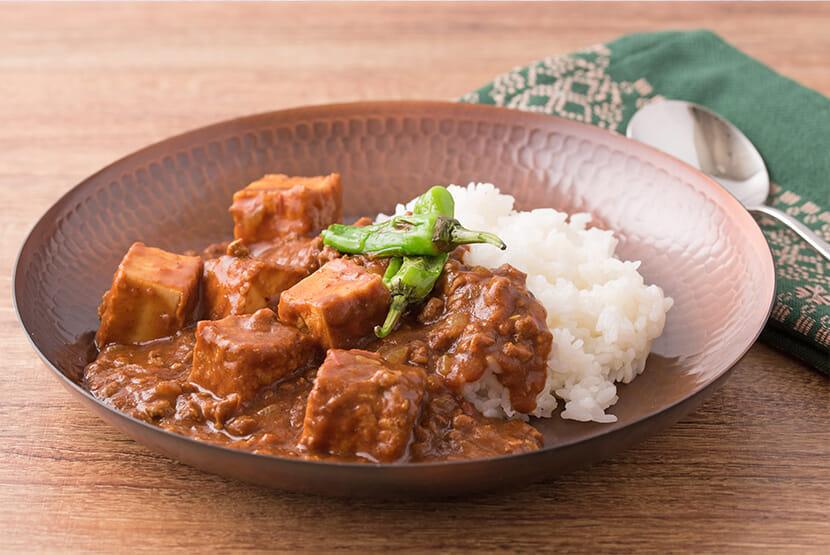 厚揚げと大豆のお肉のスパイスカレー