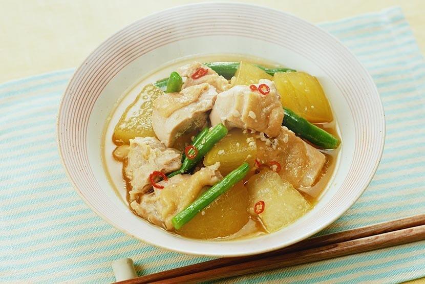 鶏肉と冬瓜のしょうゆ糀煮