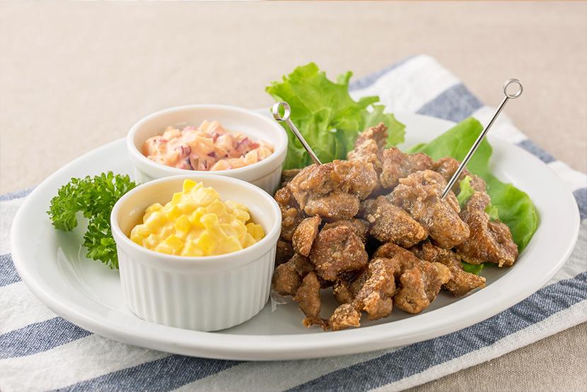 大豆のお肉の唐揚げ~2種の漬物タルタル添え~