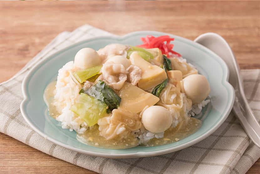 【みそ汁リメイク】中華あんかけご飯