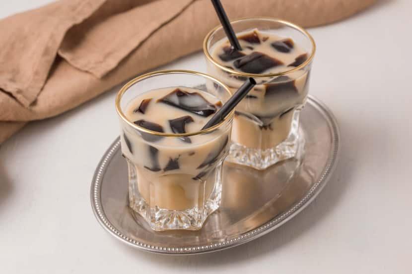 糀甘酒のクラッシュコーヒーゼリードリンク