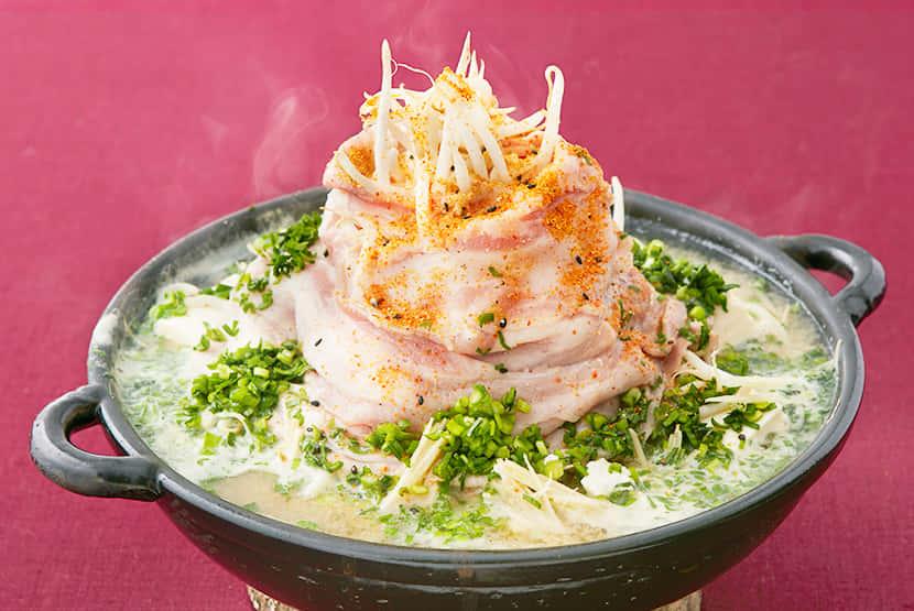豚しゃぶと豆腐のマウンテン鍋