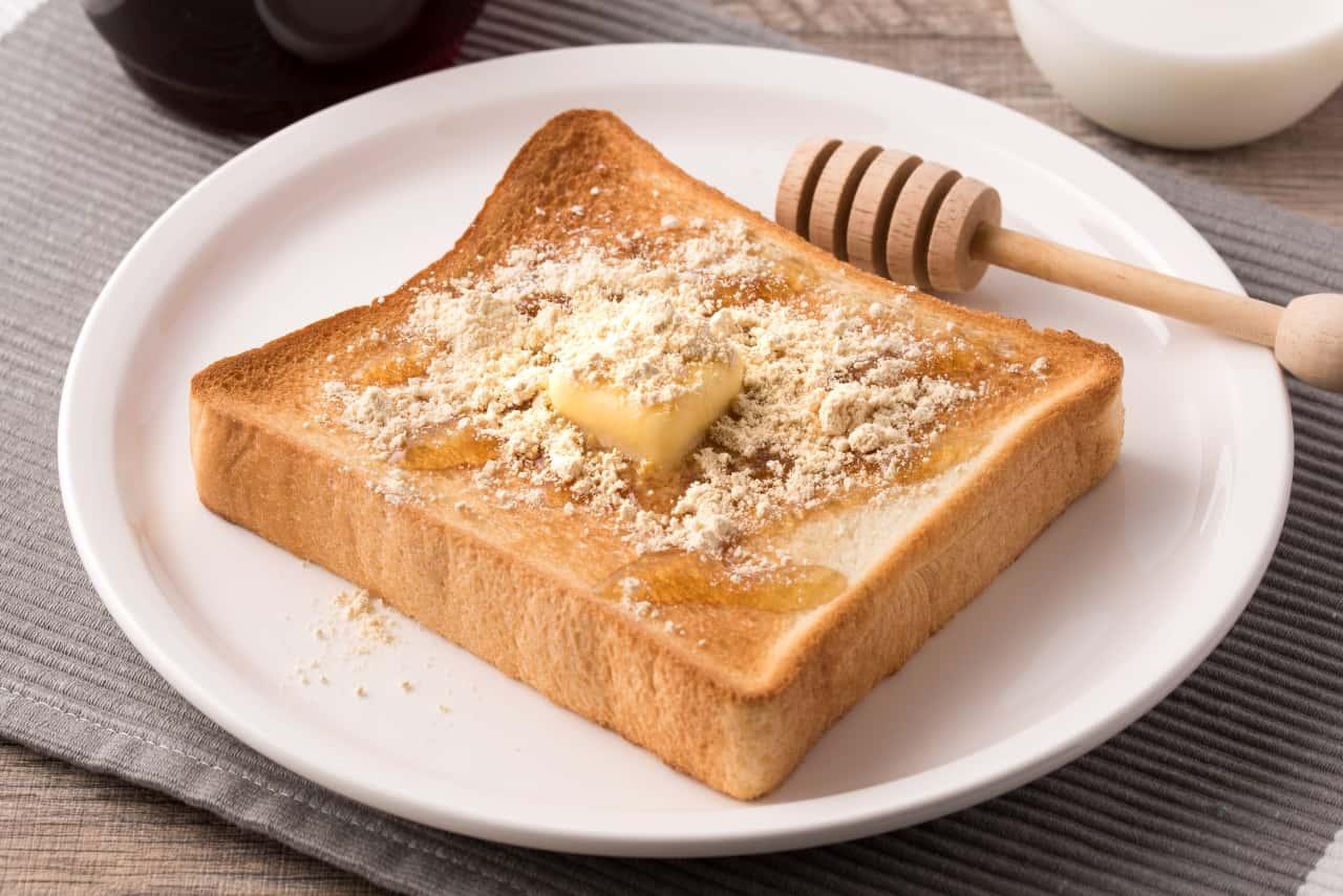 はちみつ大豆粉トースト
