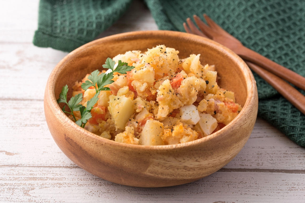 大豆粉で和えるポテトサラダ