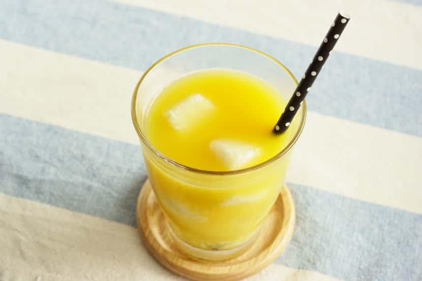 【手作り糀甘酒アレンジ】糀甘酒氷入りジュース