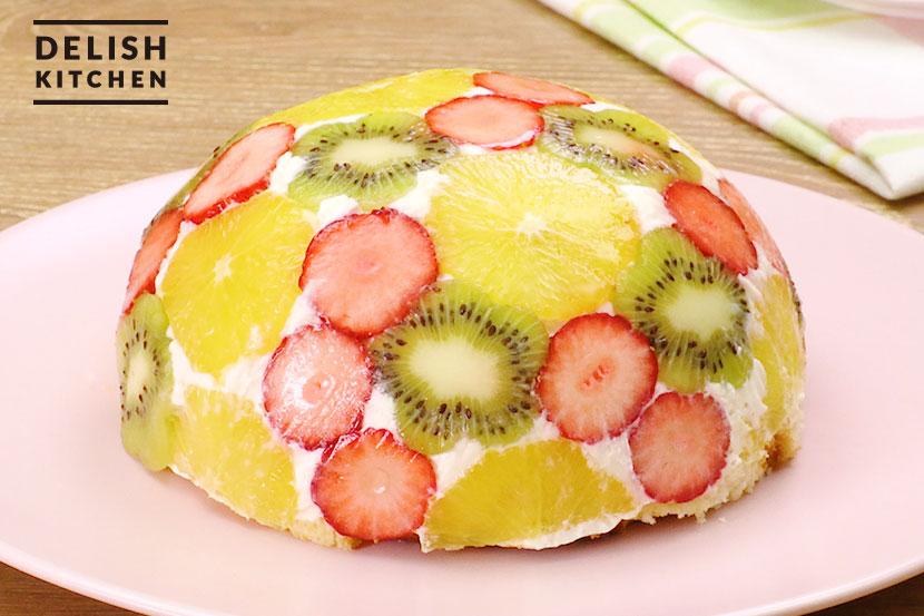 糀甘酒フルーツドームケーキ