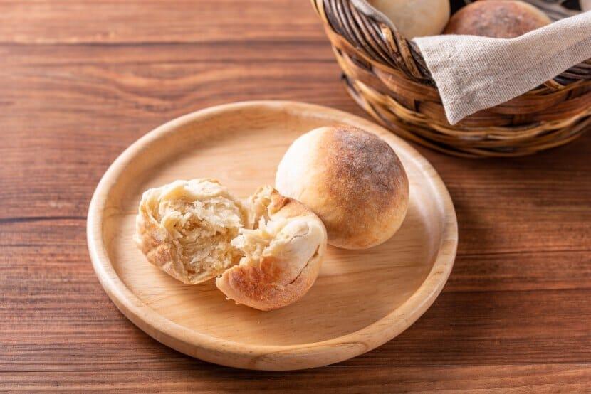 砂糖不使用!トースターで焼く基本の丸パン