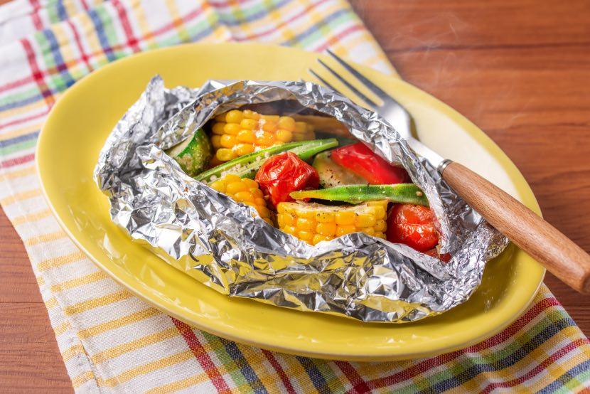 夏野菜のホイル蒸し