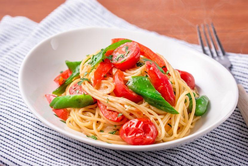 顆粒みそで簡単!ワンパン夏野菜のペペロンチーノ