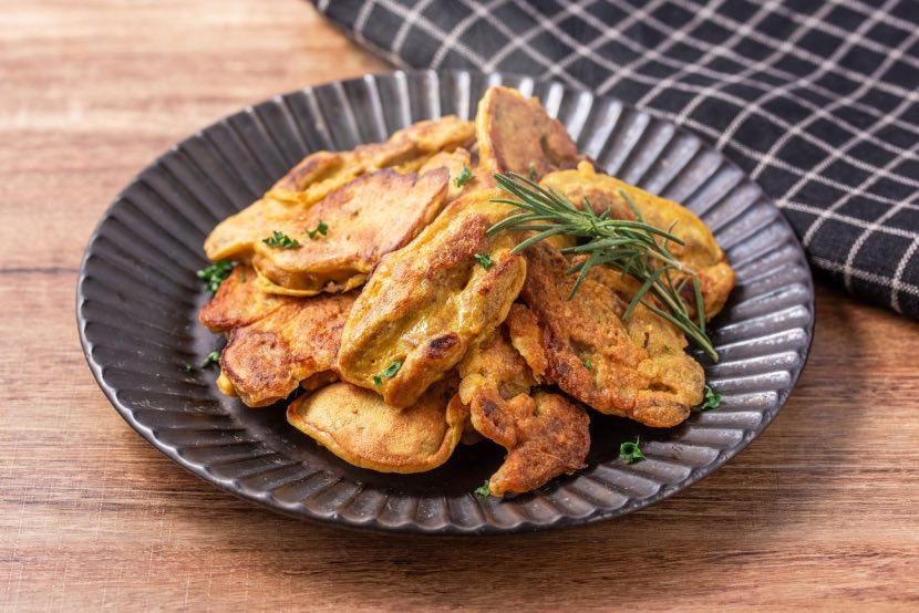 大豆のお肉のおつまみカレーピカタ