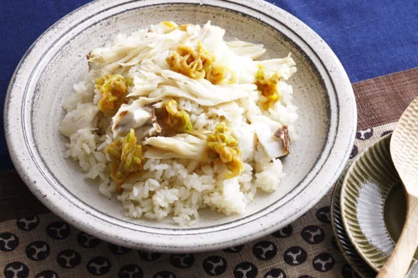 白舞茸と鯛の白い炊き込みご飯