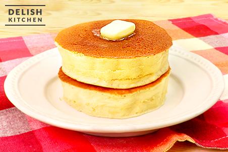 厚焼きヘルシーパンケーキ|レシ...