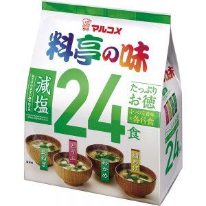 Ryotei No Aji Miso Soup Assorted Mild Salt 24 Serving