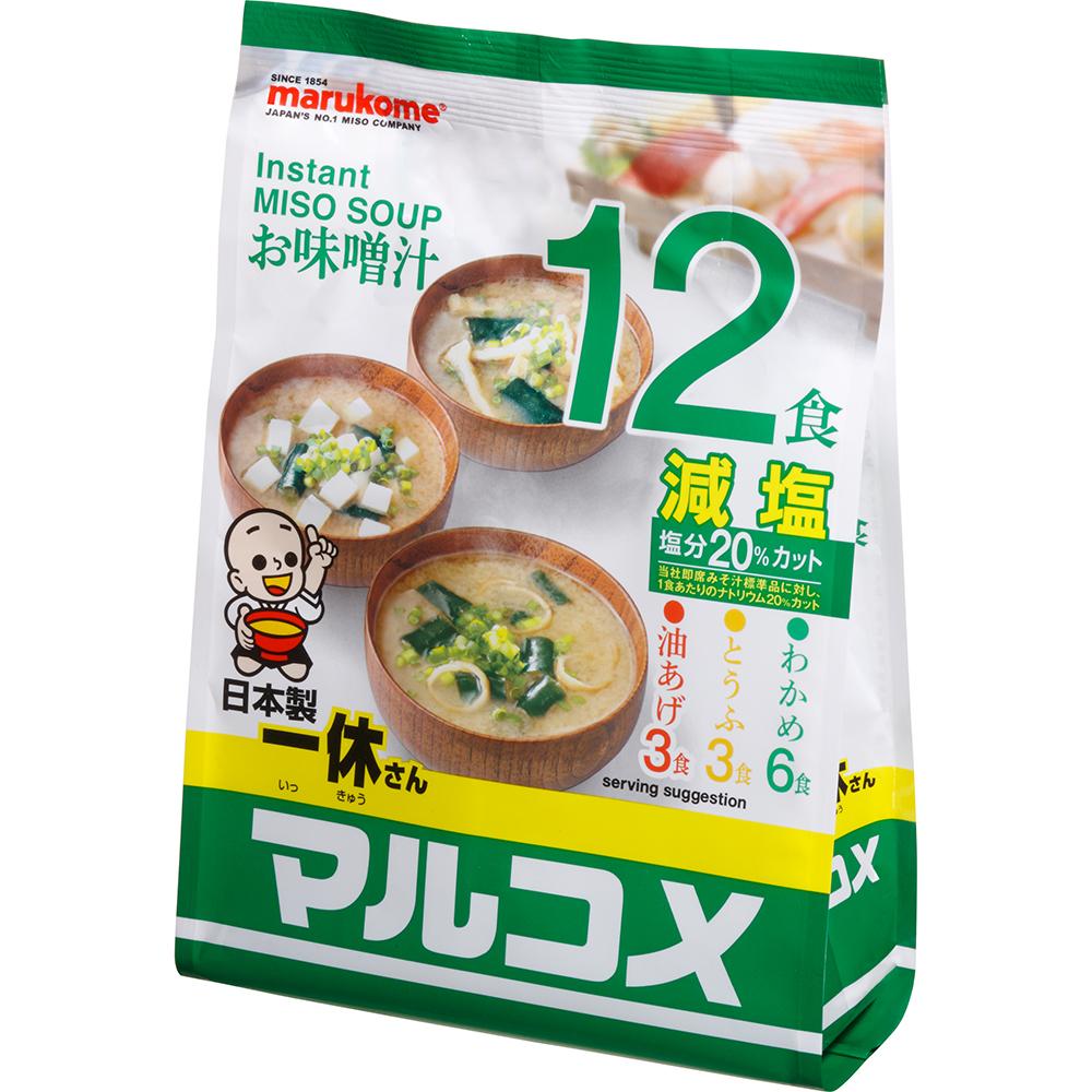 Ikkyu-San Miso Soup Mild Salt 12 Serving