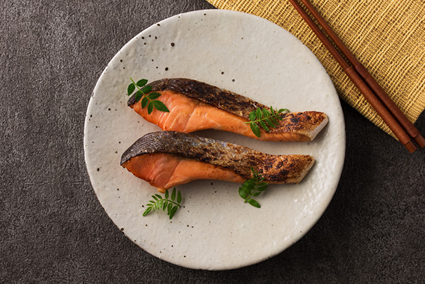 Grilled Salmon with Miso