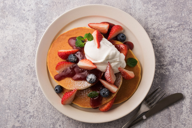 Gluten Free Pancake with Berries