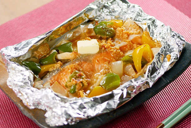 Salmon Baked in Foil with Shoyu Koji