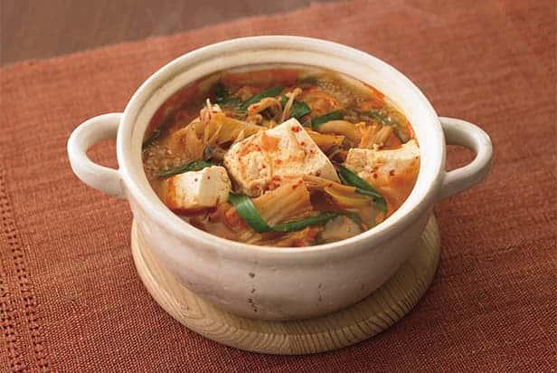Korean Miso Tofu Jjigae Stew